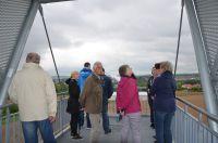 Teilnehmer genießen die Aussicht in Öhringen-Cappel