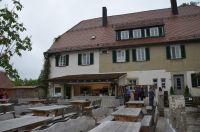 Gemeinsames Mittagessen im Biergarten Mönchsberg