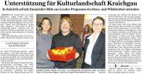 Unterstützung für Kulturlandschaft Kraichgau